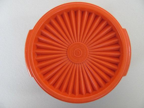Vintage Orange Tupperware Bowl of Near Impenetrability