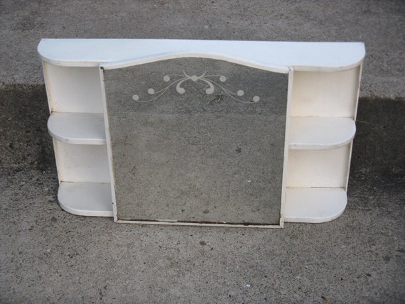 Style Of Mirrored Medicine Cabinet : metal cottage style mirrored medicine cabinet art deco styling shelves ...