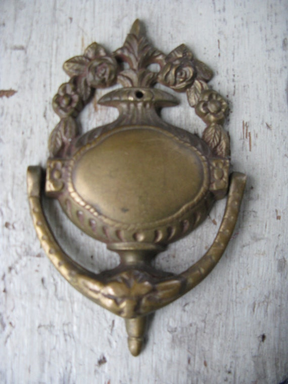 victorian style cast iron door knocker shabby chic cottage very ornate