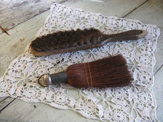 scrubbrush whiskbroom pair rustic farmhouse country photo prop