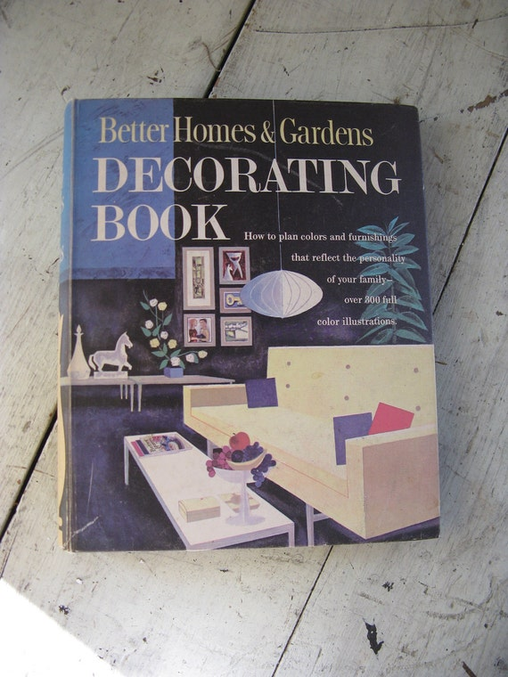 mid century decorating book better homes and gardens 1956 binder style 15 sections over 300 color illustrations