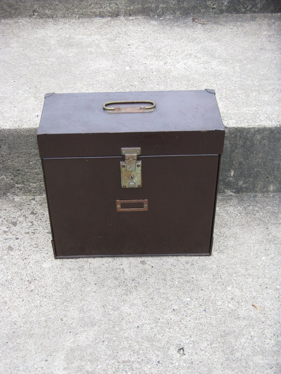 industrial brown metal file/ strong box with a-z file special file sections