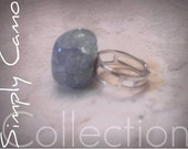 Light Blue Gemstone Adjustable Ring