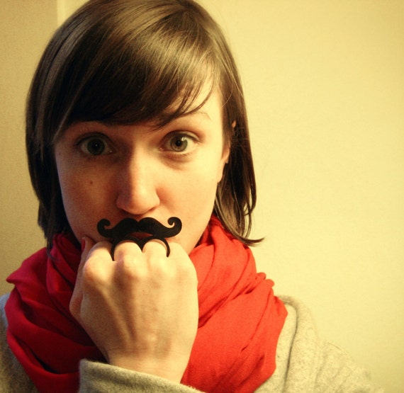 mustache on a ring