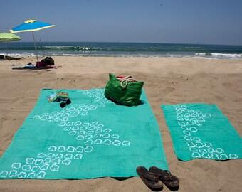 Kid's Jade Batik Linen Beach Towel