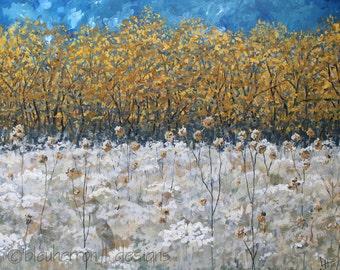 prairie painting - Dry Gold - acrylic painting art print