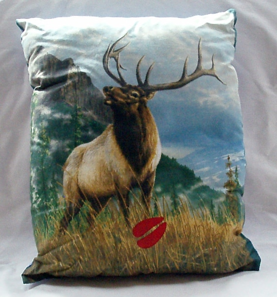 Holiday Sale Elk Pillow with Hand Painted Elk Track