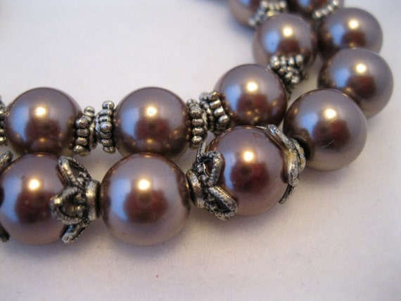 Necklace - Brown Pearls