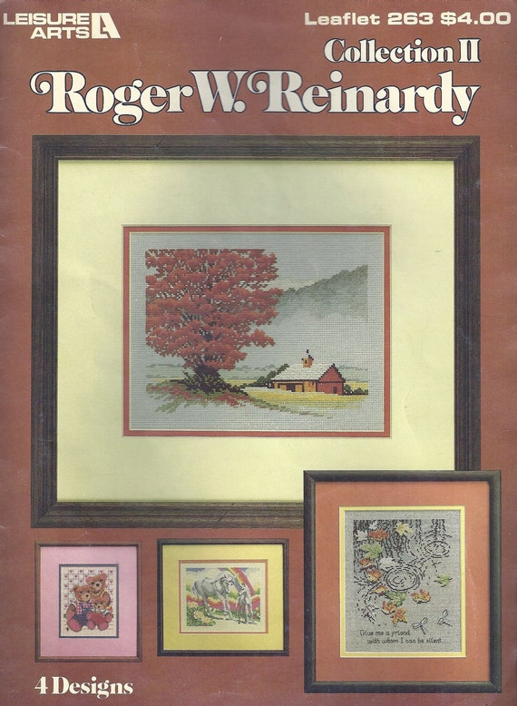 Cross Stitch Chart, Pattern Roger W. Reinardy Collection II 4 Designs
