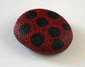 Lady Bug Hand Painted Dot Rock