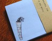 10 Envelopes, violet blue, caddis fly