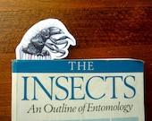 Bookworm - caddisfly bookmark