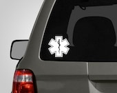 Star of Life Decal - Medical Symbol - EMT Sticker - Paramedic Firefighter Vinyl Car Decal BAS-0189