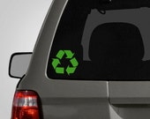 Recycle Decal - Recycle Symbol Sticker Recycle Logo Decal - Vinyl Car Decal BAS-0179