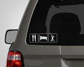 Eat, Sleep Golf Decal - Golfer Decal - Golfer Sticker - Golfing Decal Sticker Vinyl Car Decal BAS-0135