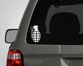 Grenade Decal - Grenade Sticker - Grenade Window Sticker - Vinyl Decal Car Decal BAS-0143
