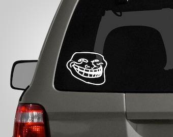 Forum Troll Decal - Troll Face Decal - Forum Troll Sticker - Vinyl Car Decal BAS-0142