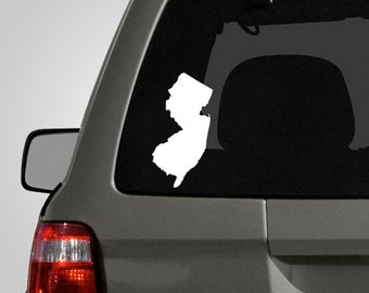 New Jersey Decal - New Jersey Sticker - NJ New Jersey State Vinyl Decal - Vinyl Car Decal BAS-0152