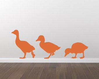 Ducklings Ducks Decal Wal Decal Stickers - Removable Wall Decal - Matte Vinyl Wall Decal Pack WAL-A114