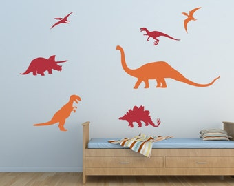 Dinosaurs Wall Decal Set with T-Rex Dinosaur - WAL-2127