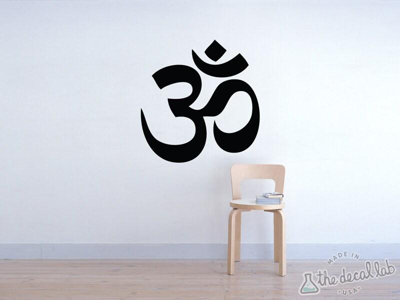 Om Wall Decal - Yoga Wall Decal - Om Sticker Ohm Decal - WAL-A104