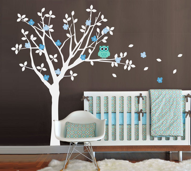 Nursery decals best baby decoration - Stickers arbre chambre fille ...