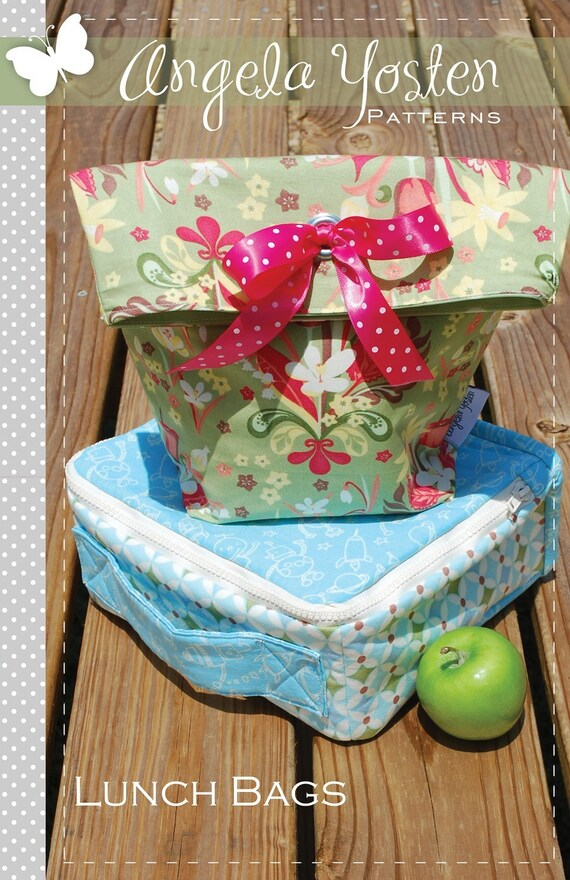 Lunch Bags Pattern - Printed Version