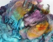 Hand Dyed Coopworth x Shetland LAMB Fleece Locks Spinning and Felting Fiber -Thorn Valley Colorway