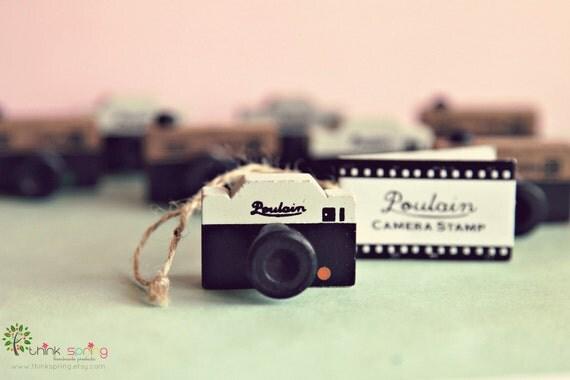 Vintage Camera Rubber Stamp POULAIN
