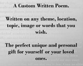 Personalized Poem written for a Photo Album
