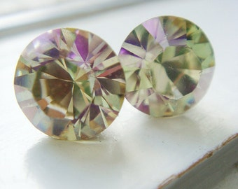 Green and Pink Limited Edition Swarovski Crystal Earrings