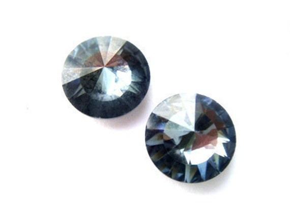 Rare Swarovski Vintage Crystal Crystal Earrings Limited Edition Blue