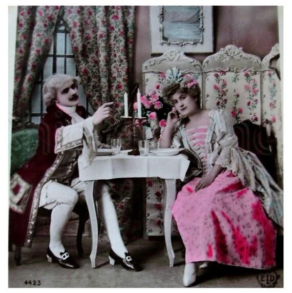 Two Unused Vintage/ Antique French Postcards - Manon Opera Scenes