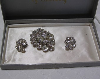50%off....Eisenberg chunky brooch and earrings In Eisenberg box