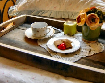 Serving Tray  Old Barn Wood Eco Friendly  Custom Crafted
