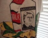 "Vintage 90's Bill Clinton Hillary Political Election Punk Rock Funny milk carton cartoon"" political weed pot smoking t shirt XL"