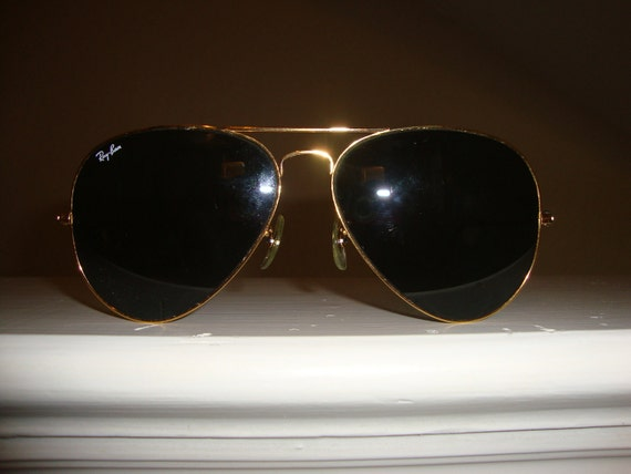 Vintage 80's  B & L Ray Ban Large  Metal Gold 62mm AVIATOR L2846 Sunglasses CoOl