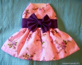 Pink & Violet Spring Floral Easter Harness Dog Dress - XXXS,XXS,XS,S,M