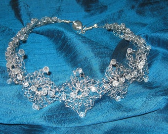 Silver Wire Lace Necklace