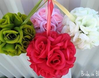 Flower girl pomander kissing ball Wedding flower ball aisle runner Wedding decorations