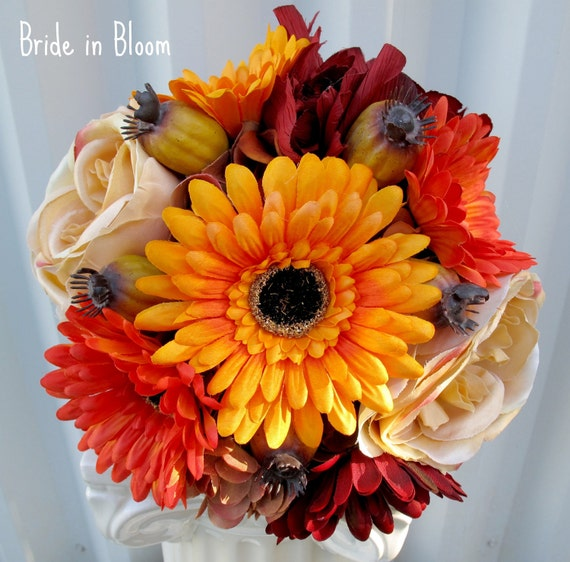 Fall Gerbera Daisy Bouquet Items similar t...