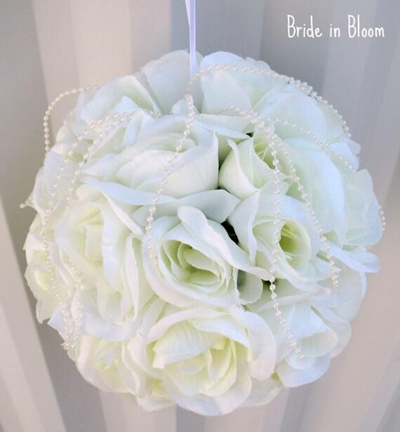 Ivory Flower Ball: Items Similar To Wedding Pomander Wedding Flower Ball