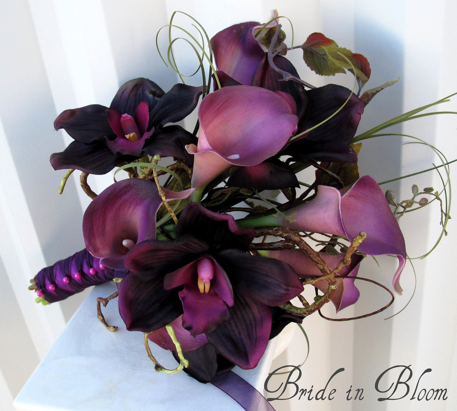 Wedding bouquet real touch calla lily bridal bouquet zoom dhlflorist Image collections
