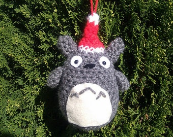 Crochet Totoro Christmas Ornament