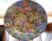 1920s Crown Ducal Blue Chintz 8 inch Plate