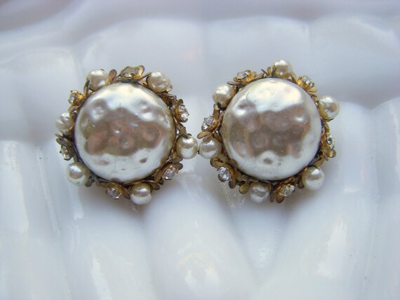 Sale - Haskell Baroque Pearl and Crystal Earrings