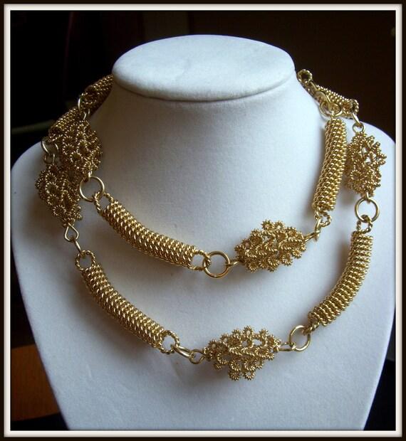 Kenneth Lane Modernist Gold Necklace (KJL)