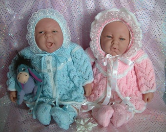 Knitting pattern for 16 - 20 inch reborns or newborn baby