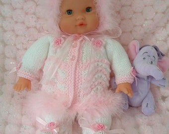 Pretty knitting pattern to fit 12 - 15 inch reborn dolls