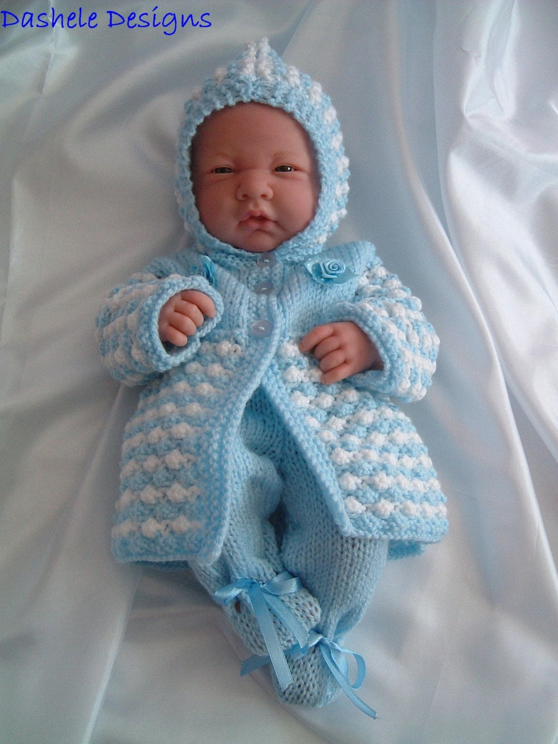 Knitting pattern for dolls outfit to fit 14 inch 16 dolls